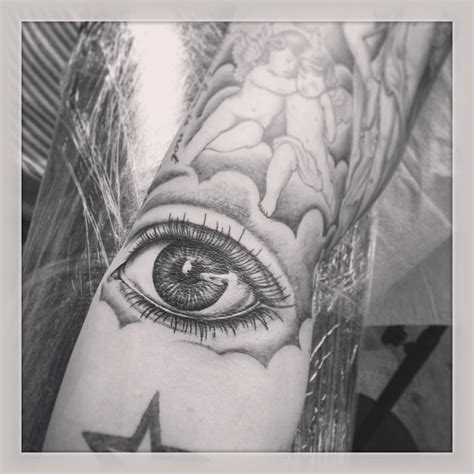 eyeball tattoo on elbow inside elbow tattoos tattoo collections