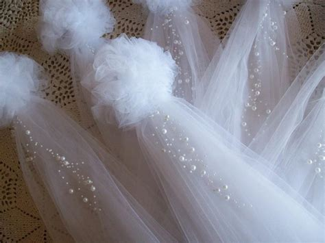 How To Make A Tulle by Pom Pew Bows Tulle And Pearl Bows Church Pew Pew Bows