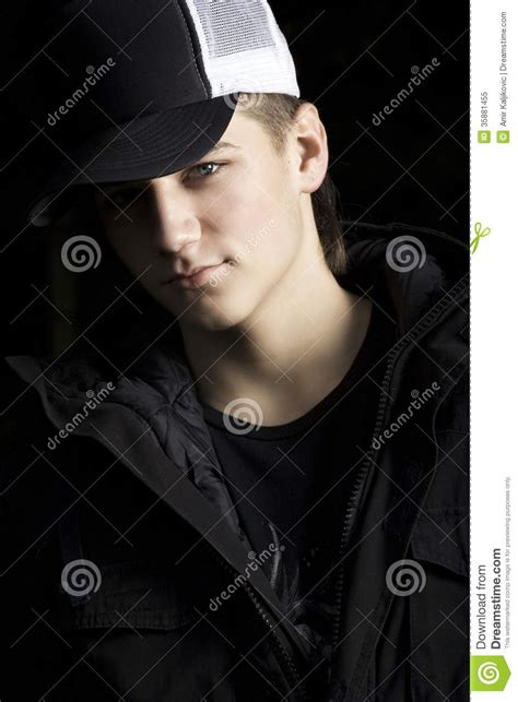 handsome teenage boy royalty free stock images image dark dramatic portrait of a handsome teenager royalty free