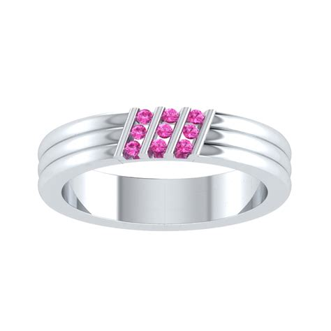 100 Pink Sapphire 1 32 Ct s 1 2ct pink sapphire sterling silver three