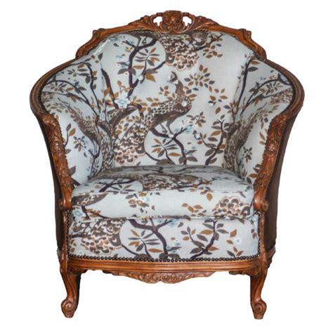 Antique Chair With Carved by Antique Arm Chair Carved And Upholstered By Greyhoundantiques