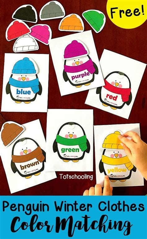 clothes color matching penguin winter clothes color matching penguin hat