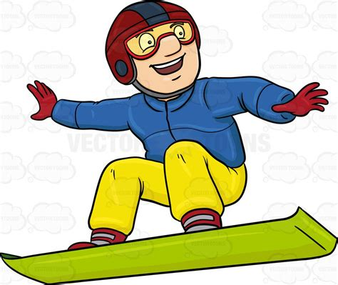 snowboard clipart a basking in merriment while snowboarding vector clip