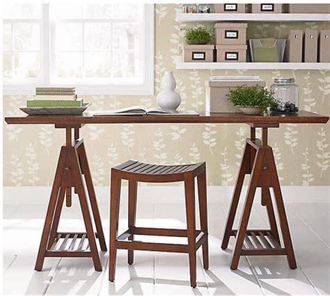 Sawhorse Legs For Desk by Re Make Sawhorse Desk Makeover