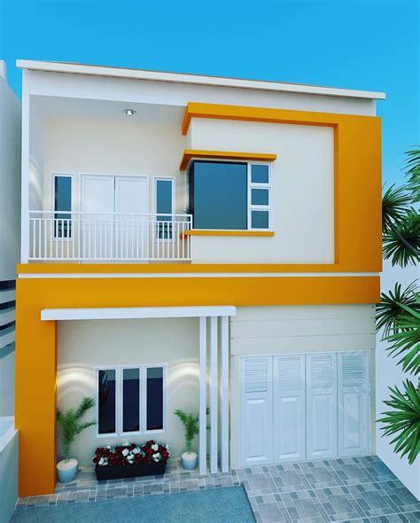 kumpulan desain rumah minimalis  perpaduan warna cat