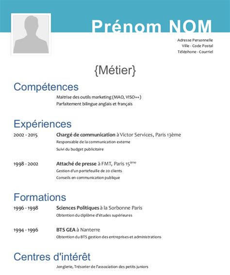 Formulaire De Cv by Formulaire Cv Modele Gratuit Cv Serrurier13015