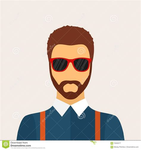 S Hairstyle Glasses Beard by Character With Beard Hairstyle And Glasses In
