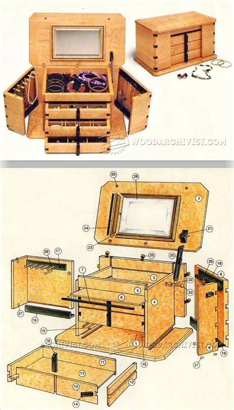 jewelry box plans woodworking plans  projects
