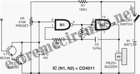 non contact voltage detector circuit diagram non contact power monitor circuit diagram