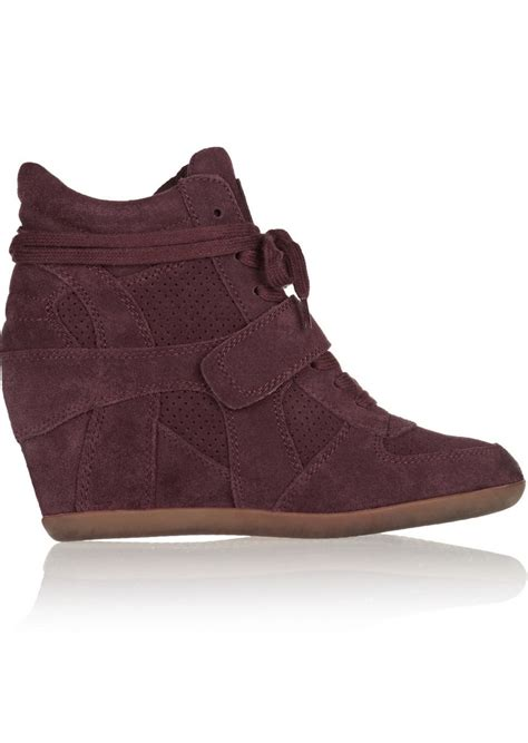 ash ash bowie suede wedge sneakers shoes shop it to me