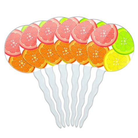 food toppers set of 6 cupcake picks toppers decoration food drink bacon