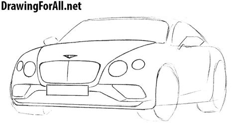 how to draw a jaguar car drawingforall net how to draw a bentley drawingforall net