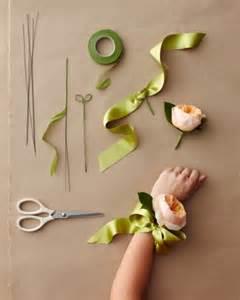 how to make wrist corsage wedding corsage ideas martha stewart weddings flowers rachael edwards