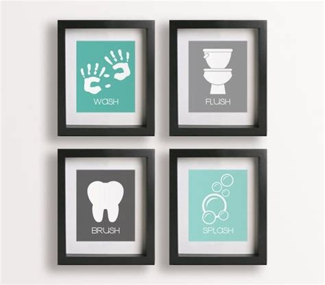 bathroom wall decor handprints craft ideas