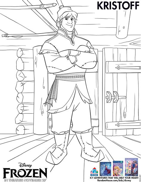 frozen coloring pages kristoff free frozen printable coloring activity pages plus free