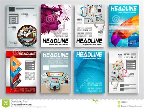 infographics brochure layout set of flyer design infographic layout brochure designs