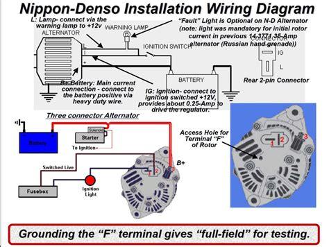 3 Pin Alternator Wiring Diagram Webtor Me