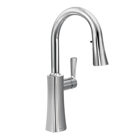 Moen Kitchen Sink Sprayer Moen Etch Single Handle Pull Sprayer Kitchen Faucet With Reflex And Power Clean In Chrome