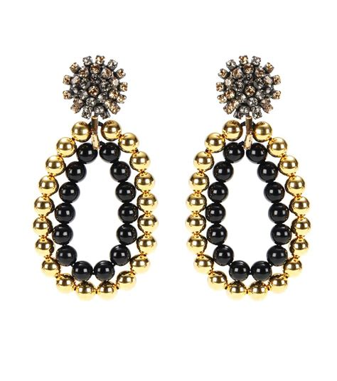 Beaded Earring Clip On Earring 2 stores in stock marni beaded strass clip on earrings