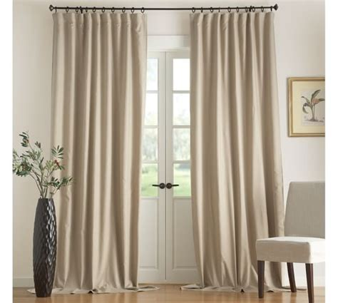 pottery barn linen curtains carson linen cotton drape pottery barn