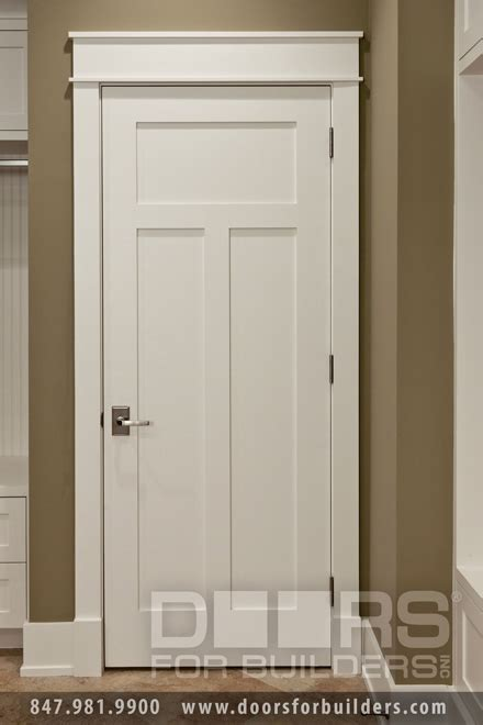 Interior Door Style Craftsman Style Custom Interior Paint Grade Wood Door Custom Wood Interior Doors Door From