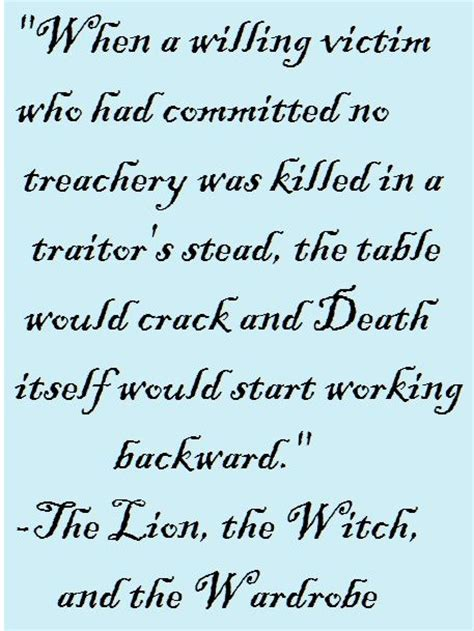 The The Witch And The Wardrobe Book Quotes by The The Witch And The Wardrobe Quotes Quotesgram
