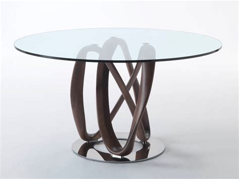 Porada infinity round glass dining table by s bigi chaplins