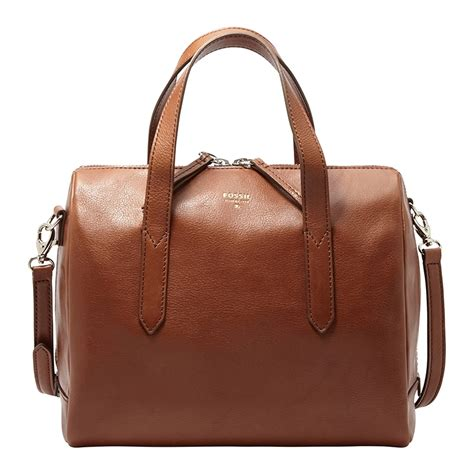 Ready Fossil Sidney Satchel Brown fossil bag zb5486200 chriselli