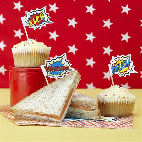 food toppers retro pop food toppers sticks by