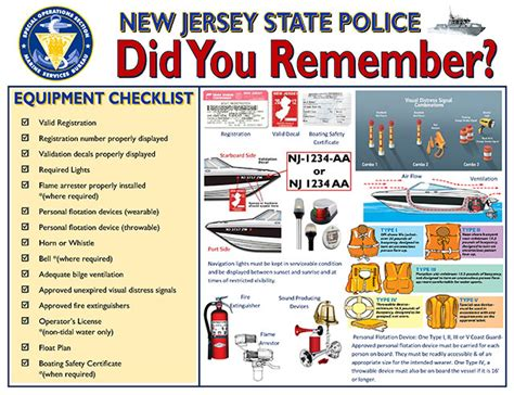 boat safety rules marine services new jersey state police