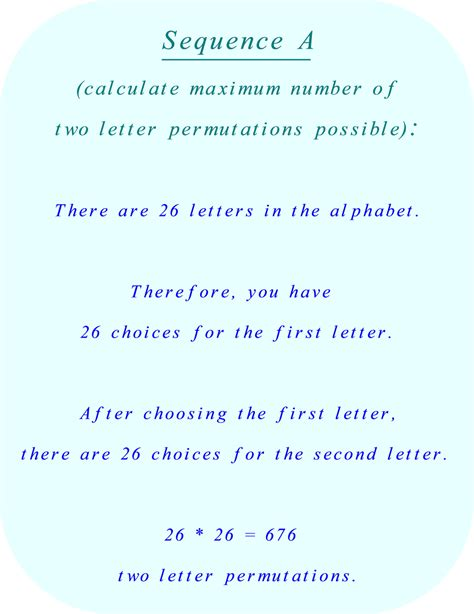 Letter Combinations permutations or combinations
