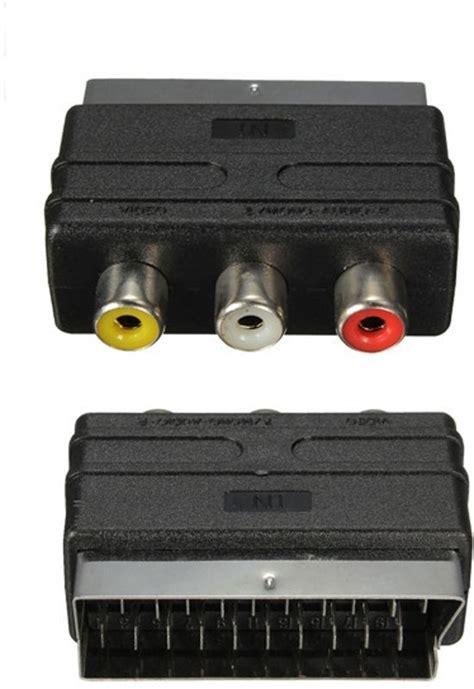 Kabel Rca 3 Audio Visero Av bol scart naar tulp composiet av kabel adapter