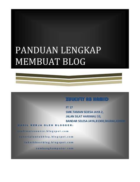 membuat blog ppt panduan lengkap membuat blogspot