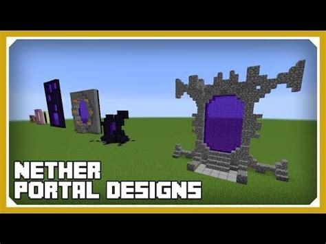 tutorial web portal design minecraft how to build nether portal designs tutorial