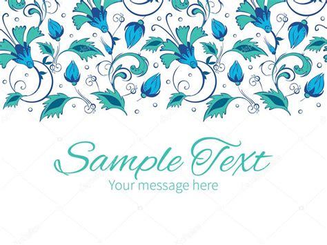 Modelo De Convite Do Vetor Azul Verde Swirly Flores Borda Teal Blank Wedding Card Templates Blue