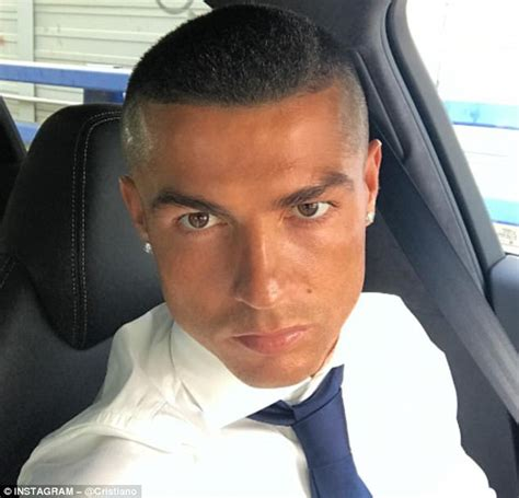 cristiano ronaldo celebrates win with a new haircut