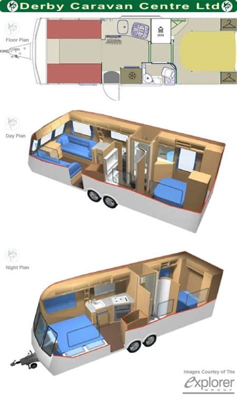 Caravan Floor Plan Layouts | caravan floor plans small house pinterest floor