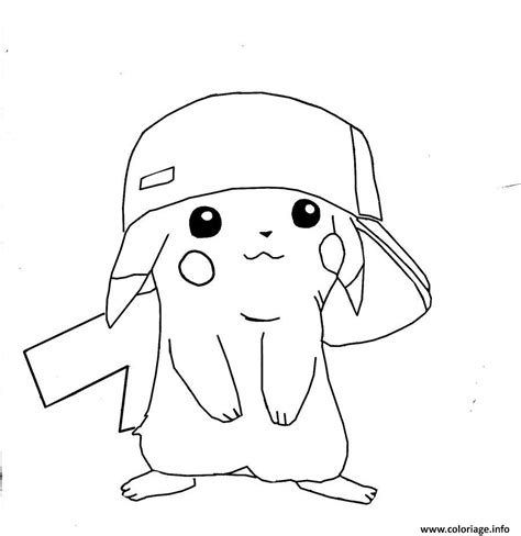 Coloriage Pikachu Swag Cool Dessin