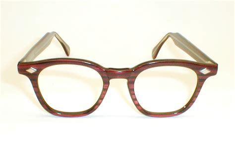 mens vintage ronsur 2 tone eyeglasses frames g