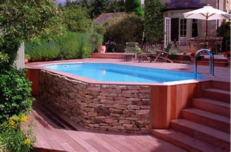 Above Ground Pool Backyard Ideas by Landscaping Ideas For Backyard With Above Ground Pool