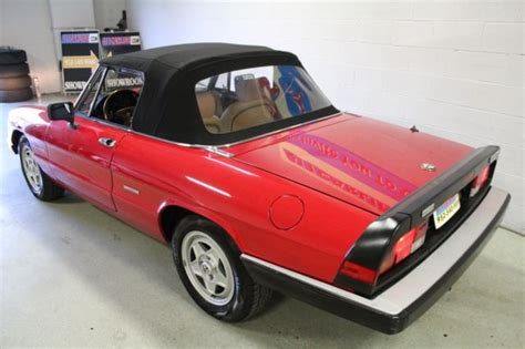 1989 Alfa Romeo Spider by 1989 Alfa Romeo Spider Veloce One Owner
