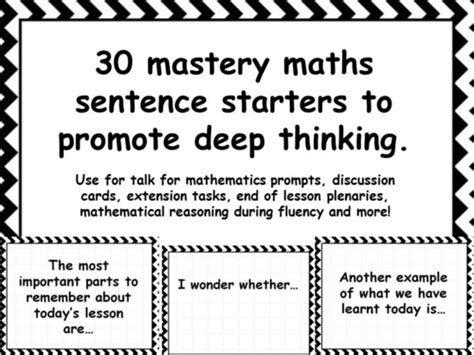 biography sentence starters ks2 30 mastery maths sentence starters to promote deep