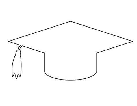 printable numbers for drawing out of hat graduation cap pattern use the printable outline for