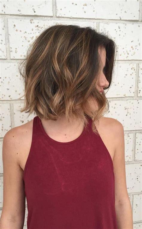 short wavy lob wavy lob 5 short hairstyles 2018