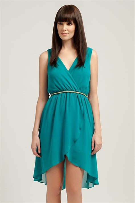 Dipped Hem Dresses by Teal Dipped Hem Dress