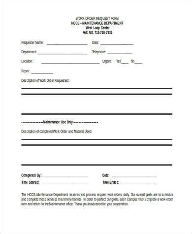 Construction Work Order Template Work Order Form 1 Pdf Templates Data Roofing Work Order Template