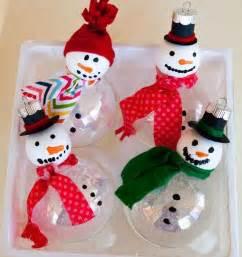 diy snowman ornaments holiday cheer pinterest