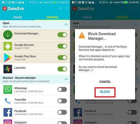 block mobile how to block mobile data wifi for specific apps on android