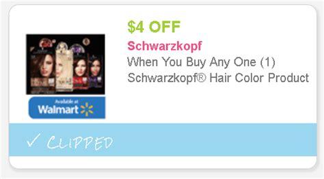 walmart hair coupon print today 4 00 schwarzkopf hair color product