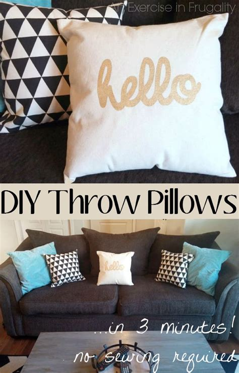 No Sew Throw Pillows - diy no sew throw pillows an exercise in frugality